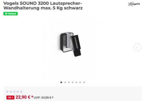 Vogels SOUND 3200 universelle Lautsprecher-Wandhalterung, schwarz - jetzt 21% billiger