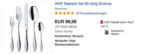 """WMF Besteckset """"Sinfonia"""", 60-teilig - jetzt 13% billiger"""