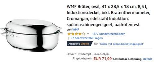 WMF Bräter 8,5 Liter inkl. Bratenthermomter Scala - jetzt 18% billiger