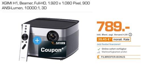 XGIMI H1 Full-HD LED Beamer (900 ANSI-Lumen, 10000:1, 3D) inkl. 70€ Coupon - jetzt 8% billiger