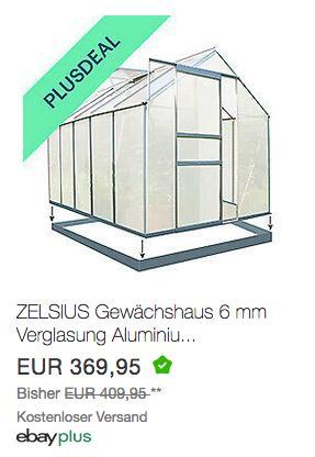 ZELSIUS Gewächshaus mit Fundament, 310 x 190 cm, 5,90 m² - jetzt 10% billiger