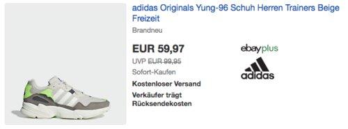 adidas Originals Yung-96 Herren Sneaker, beige - jetzt 14% billiger