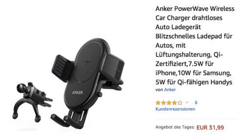 Anker PowerWave 7.5 Ladepad fürs Auto, drahtloses Ladegerät für Smartphones - jetzt 20% billiger