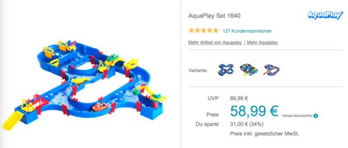 AquaPlay Set 1640, Wasserspielzeug-Kanal für drinnen und draußen - jetzt 9% billiger