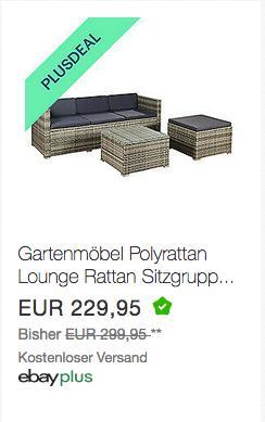 "ArtLife Polyrattan Lounge ""Punta Cana M"" Grau, 3-4 Personen - jetzt 10% billiger"