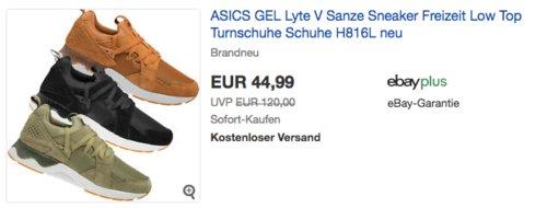 ASICS GEL-Lyte V Sanze Herren Sneaker H816L - jetzt 25% billiger