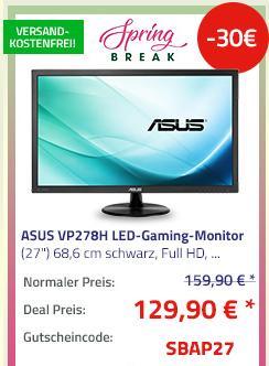 "ASUS VP278H LED-Gaming-Monitor (27"") 68,6 cm (1ms , Lautsprecher) - jetzt 13% billiger"