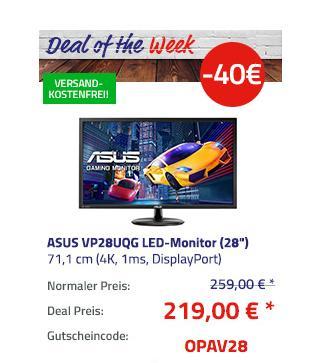 "ASUS VP28UQG (28"") 71,1 cm Gaming-Monitor (4K, 1ms, DisplayPort) - jetzt 15% billiger"