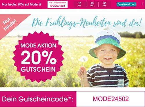 Babymarkt.de - 20% Rabatt auf Mode am 10.4.19: z.B. bellybutton Girls Leder-Lauflernschuh rose, Gr. 19-24 - jetzt 20% billiger