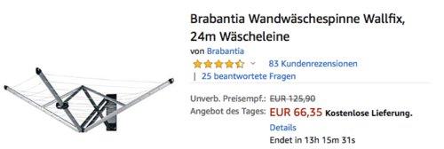 """Brabantia Wandwäschespinne """"Wallfix"""", 24m Wäscheleine - jetzt 34% billiger"""