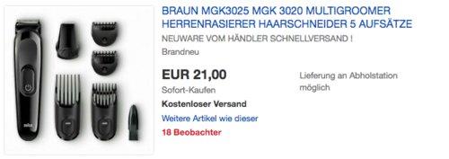Braun MGK3025 MultiGroomer Herrenrasierer mit 5 Aufsätzen - jetzt 40% billiger