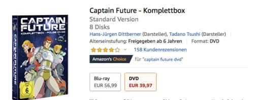Captain Future - Komplettbox [8 DVDs] - jetzt 34% billiger