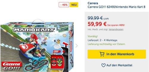 Carrera GO!!! 62491Nintendo Mario Kart 8 Action-Rennbahn - jetzt 13% billiger