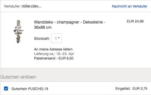Champagner - Dekosteine Wanddeko, Eisen, 36x88 cm - jetzt 12% billiger