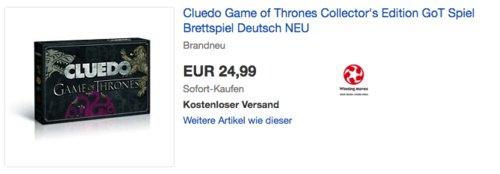 Cluedo Game of Thrones Brettspiel - jetzt 16% billiger