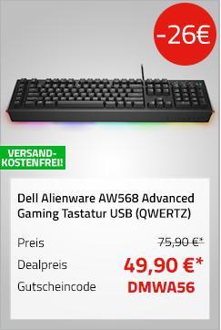 Dell Alienware AW568 Advanced Gaming Tastatur, schwarz - jetzt 34% billiger