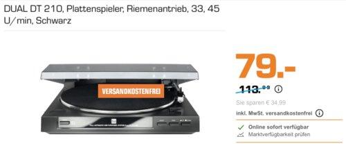DUAL DT 210 Plattenspieler, schwarz - jetzt 17% billiger