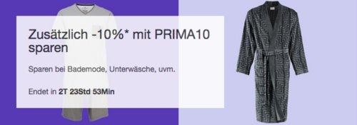 Ebay - 10% Rabatt auf Bademode, Unterwäsche usw.: z.B. Cawö Herren Bademantel/Saunamantel Velours Qualität - jetzt 10% billiger