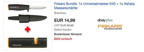 Fiskars Universalmesser K40 inkl. Xsharp Messerschärfer - jetzt 34% billiger