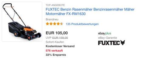 FUXTEC Benzin-Rasenmäher FX-RM1630, 40 cm max. Schnittbreite - jetzt 19% billiger