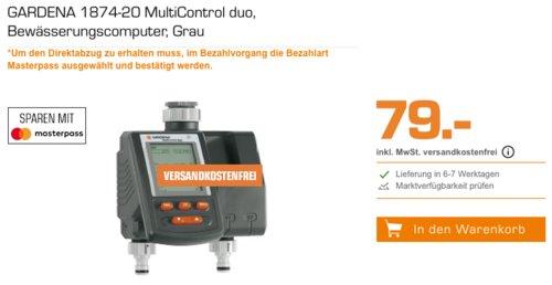 "GARDENA 1874-20 Bewässerungscomputer ""MultiControl duo"" - jetzt 7% billiger"