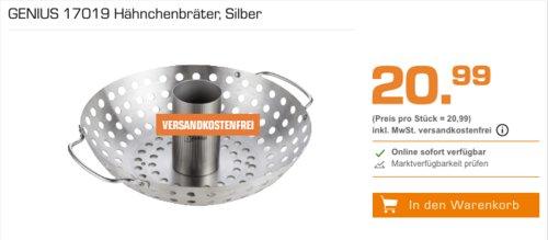 GENIUS 17019 Hähnchenbräter, Edelstahl - jetzt 30% billiger