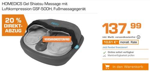 HoMedics GSF-500H Fußmassagegerät mit Luftkompression - jetzt 20% billiger