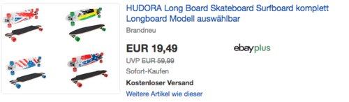 "Hudora Hornet Longboard 32,5"" Flag Design, versch. Modelle - jetzt 35% billiger"