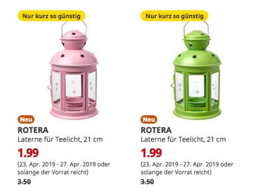 IKEA Berlin-Lichtenberg - ROTERA Laterne für Teelicht, 21 cm - jetzt 43% billiger