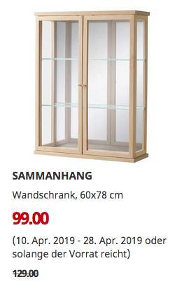 IKEA Berlin-Lichtenberg - SAMMANHANG Wandschrank, 60x78 cm - jetzt 23% billiger
