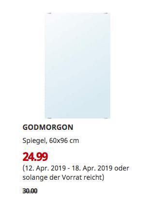 IKEA Berlin-Tempelhof - GODMORGON Spiegel, 60x96 cm - jetzt 17% billiger