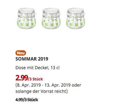 IKEA Berlin-Waltersdorf - OMMAR 2019 Dose mit Deckel, 3 Stück, 13 cl - jetzt 40% billiger