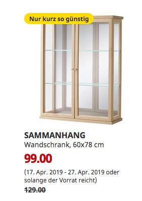 IKEA Bielefeld - SAMMANHANG Wandschrank, 60x78 cm - jetzt 23% billiger