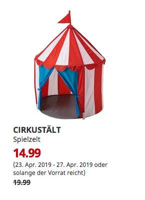 IKEA Düsseldorf - CIRKUSTÄLT Spielzelt,120 cm hoch - jetzt 25% billiger