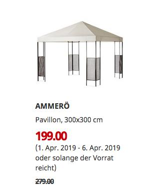 IKEA Essen - AMMERÖ Pavillon, dunkelbraun, beige, 300x300 cm - jetzt 29% billiger