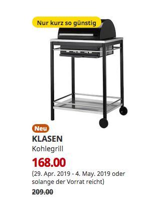 IKEA Essen - KLASEN Kohlegrill, Edelstahl, 109 cm hoch - jetzt 20% billiger