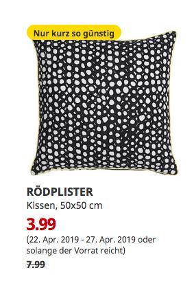 IKEA Essen - RÖDPLISTER Kissen, bunt, 50x50 cm - jetzt 50% billiger