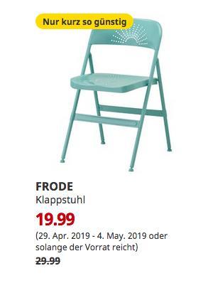 IKEAFrankfurt - FRODE Klappstuhl, türkis - jetzt 33% billiger