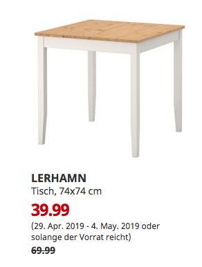 IKEA Großburgwedel - LERHAMN Tisch, Antikbeize hell, 74x74 cm - jetzt 43% billiger