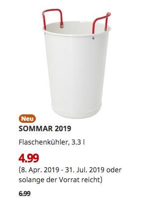 IKEA Großburgwedel -  SOMMAR 2019 Flaschenkühler, 3.3 l - jetzt 29% billiger