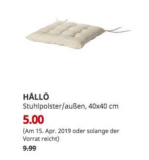 IKEA HALLÖ Stuhlpolster/außen, beige, 40x40 cm - jetzt 50% billiger