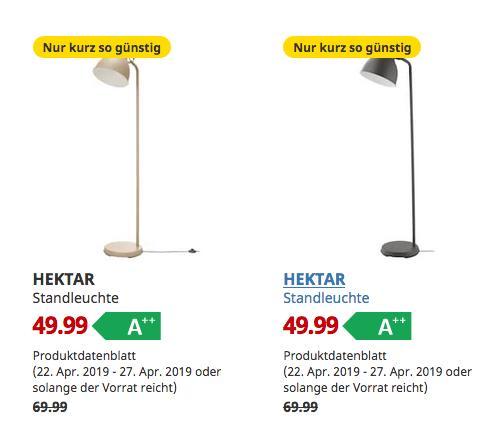 IKEA Hamburg-Schnelsen - HEKTAR Standleuchte, 181 cm hoch, beige oderdunkelgrau - jetzt 29% billiger