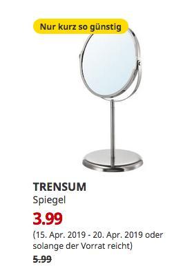 IKEA Hamburg-Schnelsen - TRENSUM Spiegel, Edelstahl,17 cm,33 cm hoch - jetzt 33% billiger