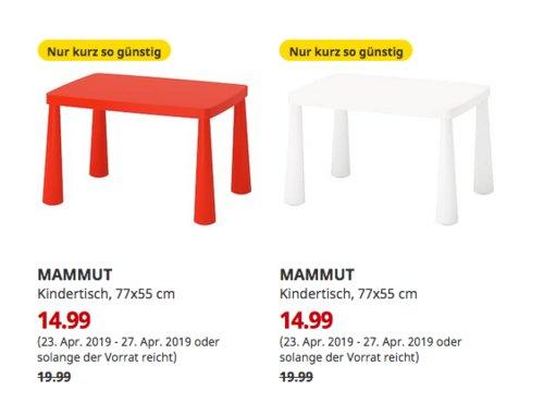 IKEAHanau - MAMMUT Kindertisch, drinnen/draußen, 77x55 cm, rot oder weiß - jetzt 25% billiger