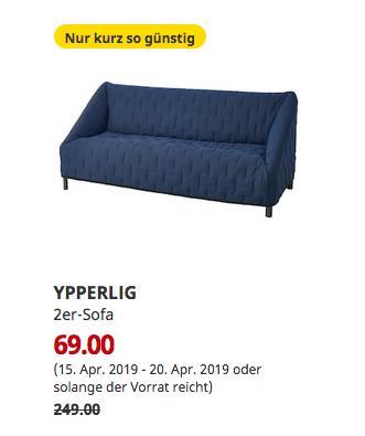 IKEA Hanau - YPPERLIG 2er-Sofa, Orrsta schwarzblau - jetzt 72% billiger