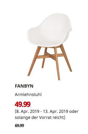 IKEA Köln-Am Butzweilerhof - FANBYN Armlehnstuhl, weiß - jetzt 29% billiger