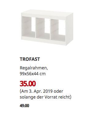 IKEA Kaiserslautern - TROFAST Regalrahmen, weiß, 99x56x44 cm - jetzt 29% billiger