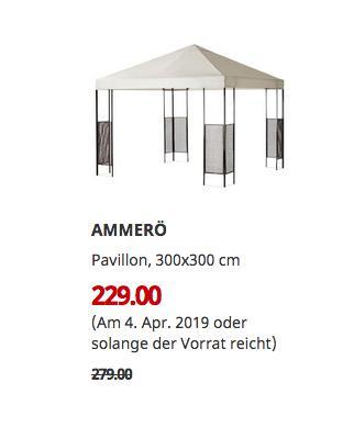 IKEA Kiel - AMMERÖ Pavillon, beige, 300x300 cm - jetzt 18% billiger