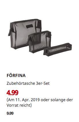 IKEA Kiel - FÖRFINA Zubehörtasche 3er-Set, schwarz - jetzt 50% billiger