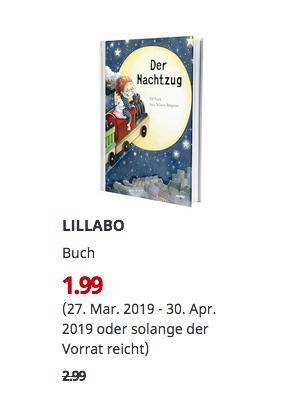 IKEA LILLABO Buch, Der Nachtzug - jetzt 33% billiger